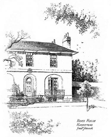Keats House, Hampstead, London, 1912. Künstler: Frederick Adcock