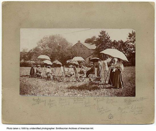 Summer Art School im Jahr 1900
